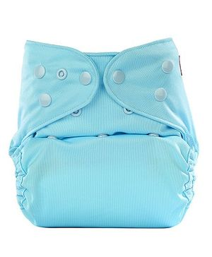 Bumberry Cloth Diaper Cover With One Bamboo Insert - Baby Blue
