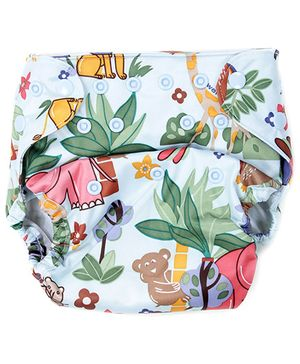 Bumberry Cloth Diaper Cover With Insert Jungle Theme