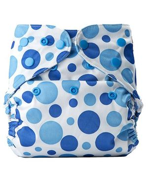 Bumberry Cloth Diaper Cover With One Bamboo Insert - Blue dots