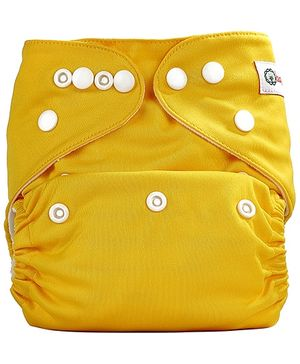Bumberry Pocket Cloth Diaper With One Microfiber Insert - Yellow