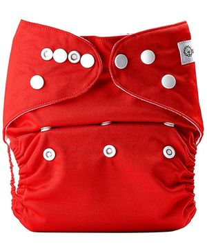 Bumberry Pocket Cloth Diaper With One Microfiber Insert Red