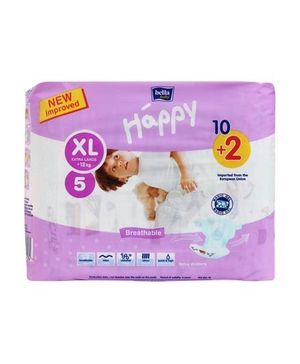 Bella Baby Happy Diapers Extra Large - 12 Pieces