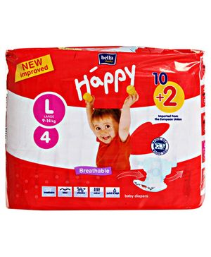 Bella Baby Happy Diapers Large - 12 Pieces