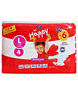 Bella Baby Happy Diapers Large - 36 Pieces
