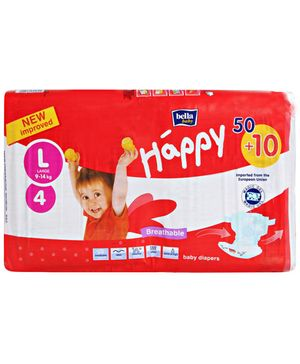 Bella Baby Happy Diapers Large - 60 Pieces