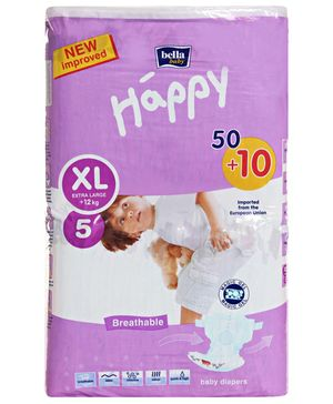 Bella Baby Happy Diapers Extra Large - 60 Pieces