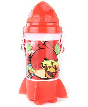 Angry Birds Classic Red Straw Water Bottle - 350 ml