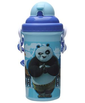 Kung Fu Panda Blue Straw Water Bottle - 500 ml