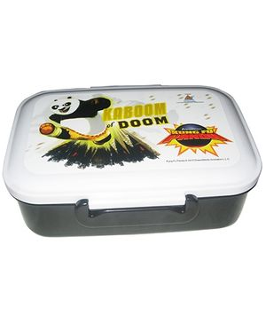 Kung Fu Panda Lunch Box - Grey And White