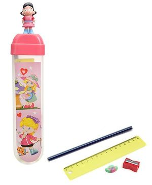 Buddyz Girl Figurine Fun Pencil Box Pink