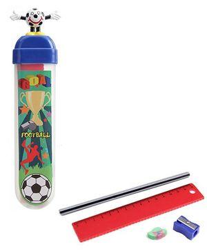 Buddyz Football Figurine Fun Pencil Box Navy Blue