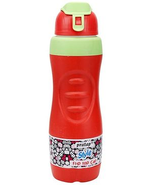 Pratap Happy Cool Style Flip Top Cap Sipper Red - 700 ml