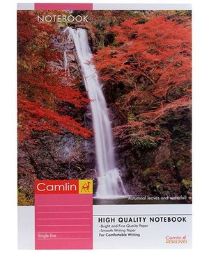 Camlin Single Line Note Book Autum Leaves Print - 180 Pages