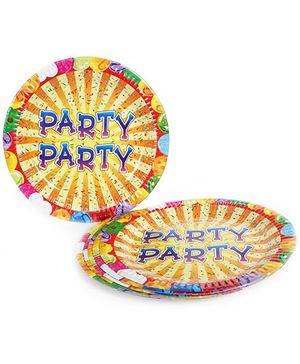 Laminated Paper Plate Circular Shape Party Theme - Pack Of 10