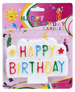 Fab N Funky Birthday Candle - Multicolor