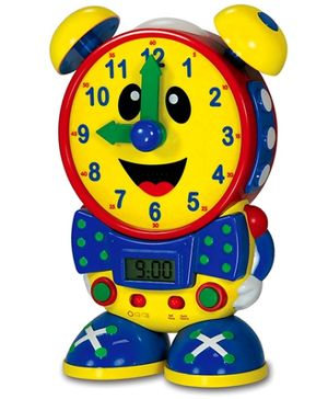 Learning Journey Telly The Teaching Time Clock - Yellow and Blue