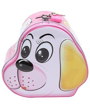 Puppy Face Money Bank Pink