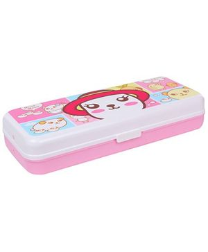 Pencil Box Pink And White