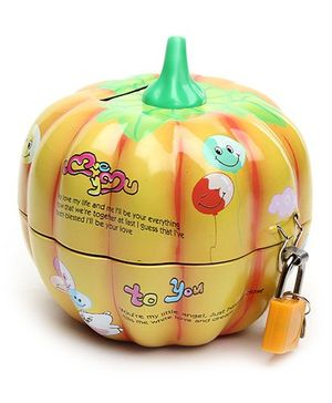Piggy Bank Pumpkin Shape Orange