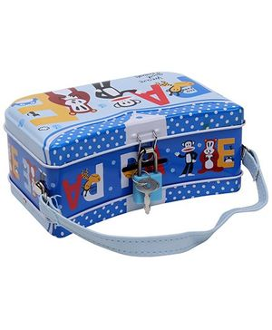 Money Bank Box with Handle - Blue