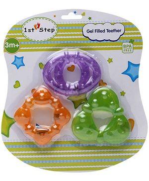 1st Step Gel Filled Teether Purple Circle - Set of 3