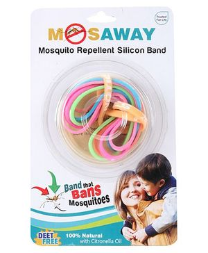 Mosaway Mosquito Silicon Band- Pack of 6