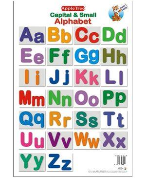 Apple Tree Educational Chart- Capital & Small Alphabet