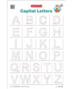 Apple Tree Educational Chart- Capital Letters