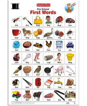 Apple Tree Educational Chart- First Words