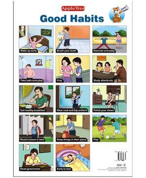 Apple Tree Educational Chart- Good Habits