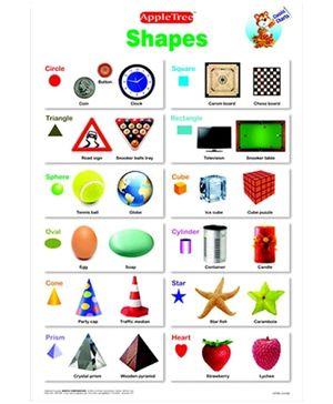 Apple Tree English Educational Chart- Shapes