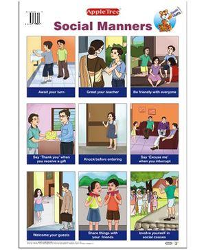 Apple Tree English Educational Chart- Social Manners