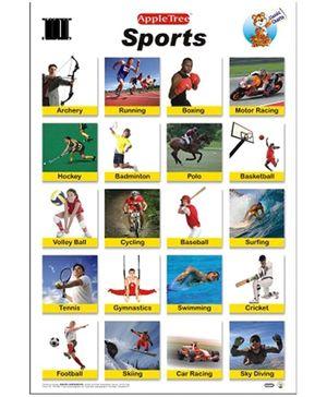 Apple Tree English Educational Chart- Sports