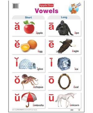 Apple Tree English Educational Chart- Vowels