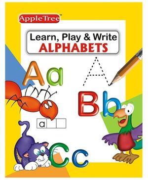 Apple Tree Learn Play And Write Alphabets - English