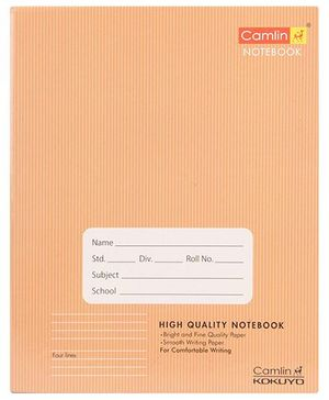 Camlin Four Line Notebook Brown - 160 Pages