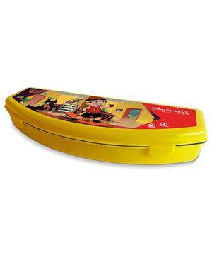 Mighty Raju Plastic Pencil Box - Yellow