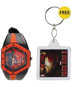 Titan Zoop Iron Man Analog Wrist Watch - Red and Black