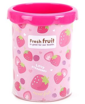 Deli Pen Stand Strawberry Print - Pink