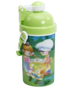 Fab N Funky Printed Sipper Water Bottle - Green