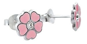 Tanyas Jewelry Beautiful Crystal Flower Earrings- Pink