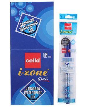 Cello I-Zone Gel Pens- Blue