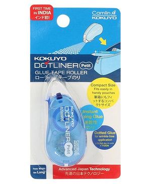 Camlin Dot Liner Glue Tape Roller - Blue