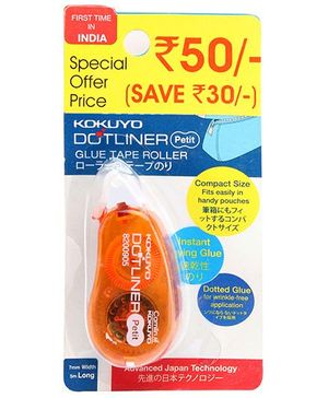 Camlin Dot Liner Glue Tape Roller - Orange