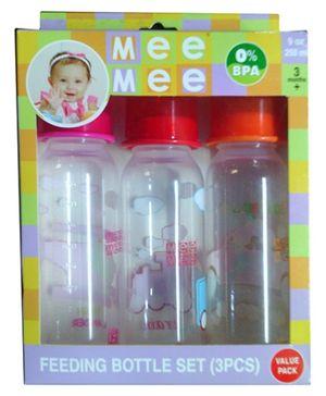 Mee Mee Feeding Bottle 250 ml - Set of 3