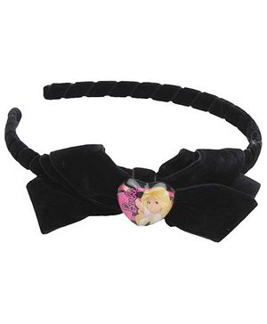 Barbie Black Hair Band With Bow Applique - Black