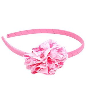 Barbie Hair Band With Cute Spiral Applique - Pink