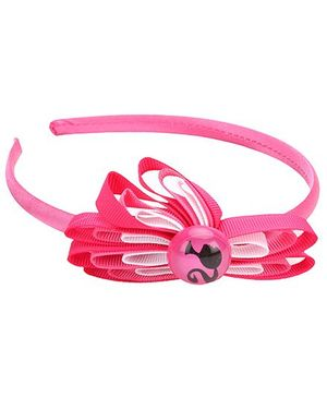 Barbie Hair Band With Flower Applique - Pink