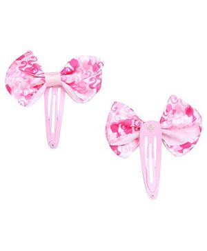 Barbie Snap Clips Pink With Bow Design - 1 Pair