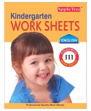 Apple Tree Kindergarten Work Sheets - English
